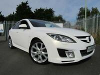 2009 Mazda 6 2.2d Sport [185] 5dr PEARL WHITE TURBO DIESEL 5 door Hatchback