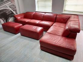 Genuine italian leather sofa from Natuzzi