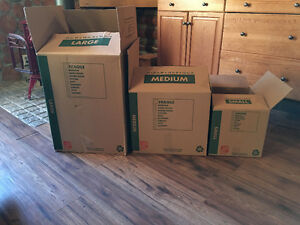 Assortment of Home Depot Moving Boxes  - Used Once