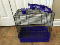 Small animal cage and exercise wheel