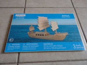 Wooden sailboat puzzle New with tags