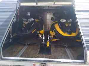 2 x Ski-doo Renegade 1000 SDI's and 12' Triton Enclosed Trailer