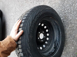 winter tires and rims 235/65R16 , bolt pattern 5-115 mm