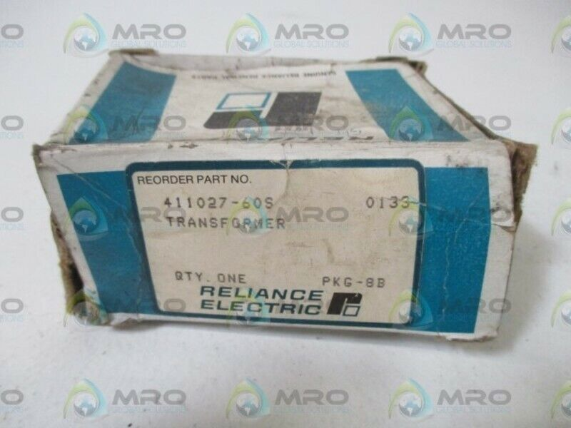 RELIANCE ELECTRIC 411027-60S TRANSFORMER * NEW IN BOX *