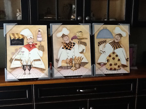 Culinary Chefs Set of 3