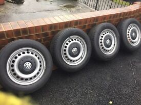 Vw t5 wheels and tyres x 4