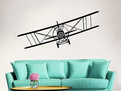 Airplane Wall Decal Vinyl Stickers Biplane Decor Plane Boy Nursery Decor ZX13