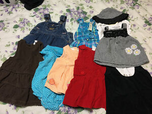 Girls 0-3 Month Dress/Jumper Lot