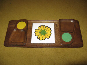 Wooden Serving Tray with Hot plate & 4 trays Edmonton Edmonton Area image 3