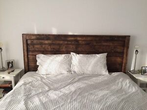 Reclaimed wood headboard $275 or best offer