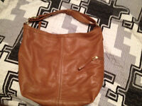 Roots Leather Hobo Bag