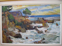"Armand Tatossian, RCA - Titled ""Marine""  Oil on Canvas 24"" x 36"""