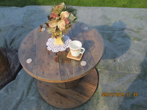 For Sale: Beautiful varnished wood cable spool coffee tables Belleville Belleville Area image 3