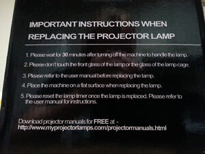 MY PROJECTORLAMPS BULB FOR SONY TV REAR PROJECTION TV Windsor Region Ontario image 3