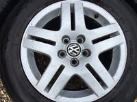 Mark four mk4 golf alloys for sale ��120 with tyres