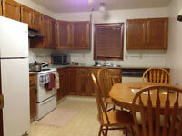 Two bedrooms with own bath, kitchen, livingroom, and laundry.