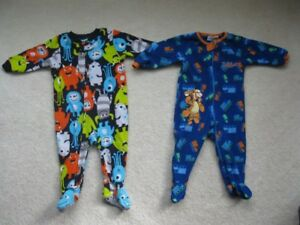 Baby Boy Fleece Sleepers