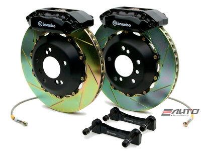 - Brembo Front GT BBK Brake 4piston Caliper Black 328x28 Slot Rotor RX8 RX-8 04-11