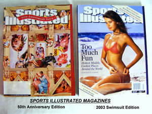 Sports Illustrated  Magazines: Swimsuit  and 50th Anniversary