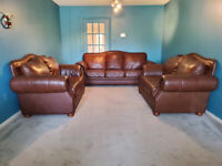 huge size luxury full leather sofa set, valued over $10K