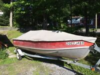 16ft LUND aluminum Boat with Trailer
