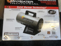 Portable propane forced air heater
