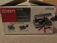 ION LP 2 CD TURNTABLE WITH BUILT IN RECORDING.