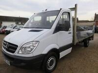 2012 62 MERCEDES-BENZ SPRINTER 313 CDI LWB DROPSIDE TRUCK WITH TAIL LIFT 66322