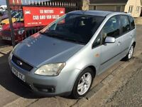 2005 FORD C-MAX, MOT JUNE 2017, ONLY £895 NOT MERIVA SCENIC PICASSO GOLF PLUS