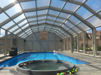 Canadian Made Telescopic Pool Enclosures or Fix Enclosures