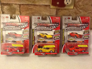 TRACKSTERS ONLINE RACING CARS X 3 London Ontario image 1