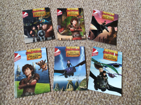 How To Train Your Dragon Early Reader 6 Books Children Set - Ages 5-7
