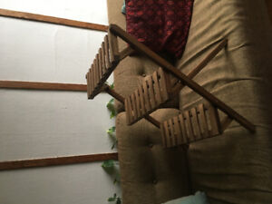 Wooden step ladder plant stand