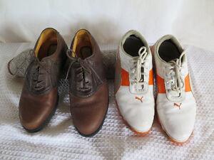Puma white golf shoes $5