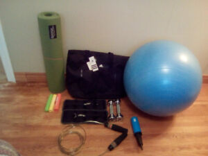 Entire lot of exercise/yoga equipment/accesory