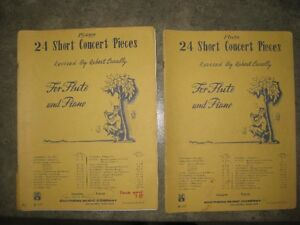 Sheet music for flute/piano duets
