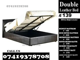 Brand New Double Leather storage Base memory fooam Bedding