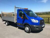 2015 15 FORD TRANSIT 125 350 L4 4.1 METER 13FT 6 ALUMINUM DROPSIDE W TAILLIFT