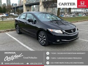 2014 Honda Civic Touring + SPRING CLEARANCE + CERTIFIED + NAVI!