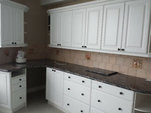 old / used kitchen cabinets/ closets/appliances/counter granit