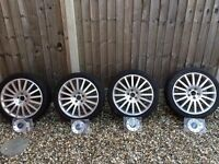 Genuine Ford Mondeo 18 inch ST Alloy Wheels & Brand New Centre Caps