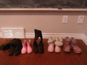 Girls Boots - From sizes 6-13 ALL $5.00 Kitchener / Waterloo Kitchener Area image 1