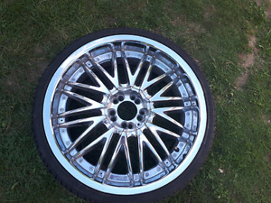 "SET OF 4! 4 20"" Chrome rims! With Center Caps!"