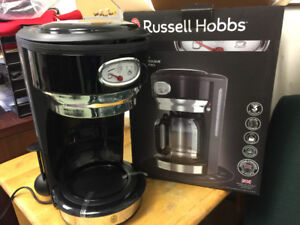Russell Hobbs Retro Style Coffeemaker, 8-Cup, Black & Stainless