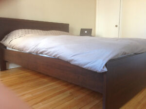 Ikea Queen Bed & Nightstand (Mattress a separate deal)