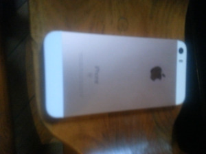 Mint condition rose gold iphone 5 se with otter box
