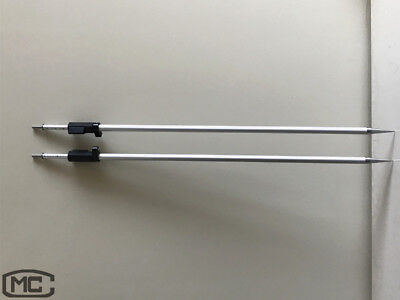 2 Pcs 2.15m Prism Pole With Swiss-style Tip For Leica Total Station