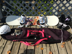 Firefly Snowboard and gear lot - Like New!