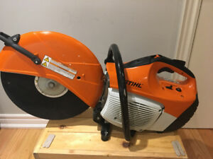 Stihl TS-420 quick cut/concrete saw used once