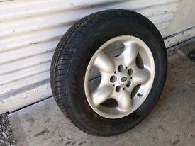 """LAND ROVER FREELANDER 16"""" ALLOY WHEEL WITH AS-NEW TYRE"""